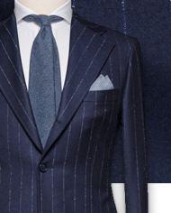 costume-bleu-flanelle-rayures-craie-costume sur mesure-zoom