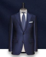 Costume Bleu natté costume sur mesure 1