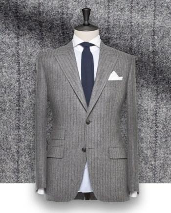 Costume gris rayures foncées tailleur paris costume privé