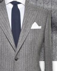 costume-gris-rayures fonces costume sur mesure zoom