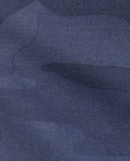 Blazer bleu camouflage costume sur mesure tissu