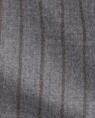 Costume gris rayures marrons tissu loro piana