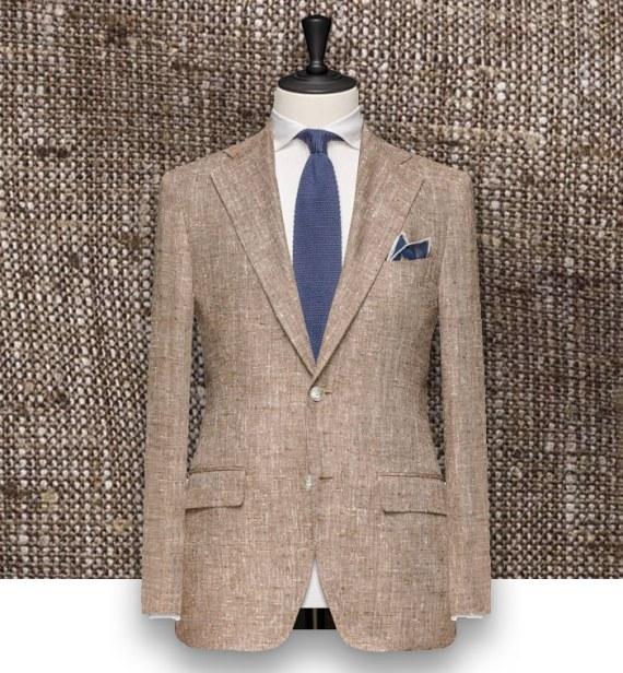 Blazer beige tweed été