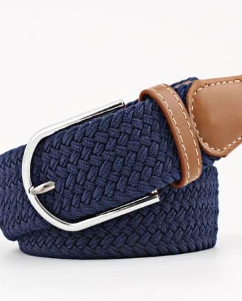 ceinture tressée bleu