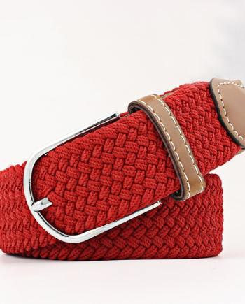 ceinture tressée rouge