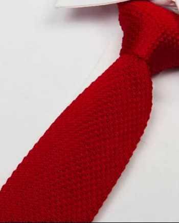 cravate tricot rouge foncé maille cravate italienne