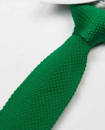 cravate tricot vert sapin maille cravate italienne