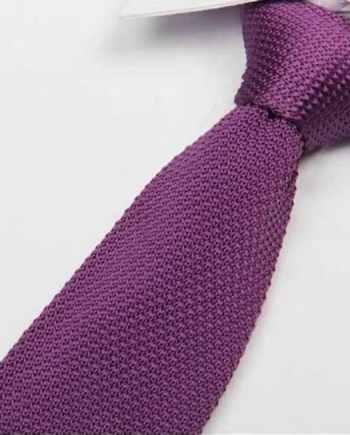 cravate tricot violet maille cravate italienne violet