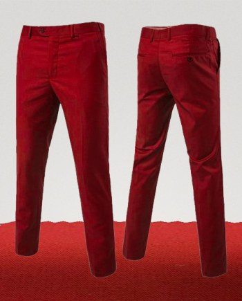 pantalon chino rouge rubis couleur homme