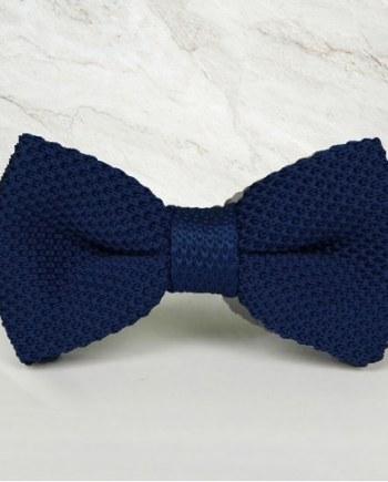 noeud papillon tricot bleu marine mariage cérémonie maille tricot