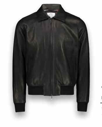 Blouson cuir noir A2 john costume privé paris