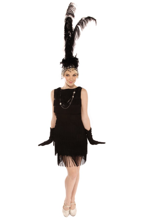 1920S FLAPPER GIRL DELUXE TASSEL DRESS