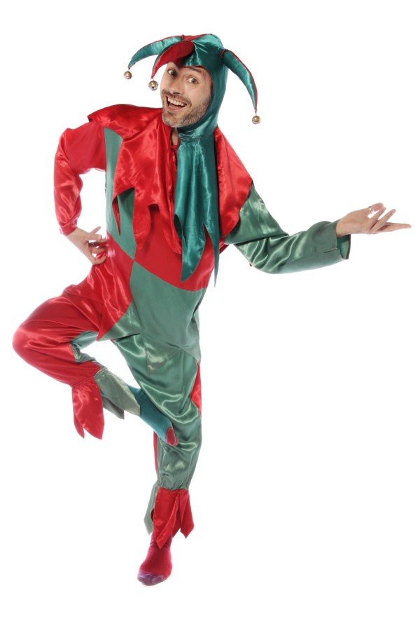 Red and green jester costume B