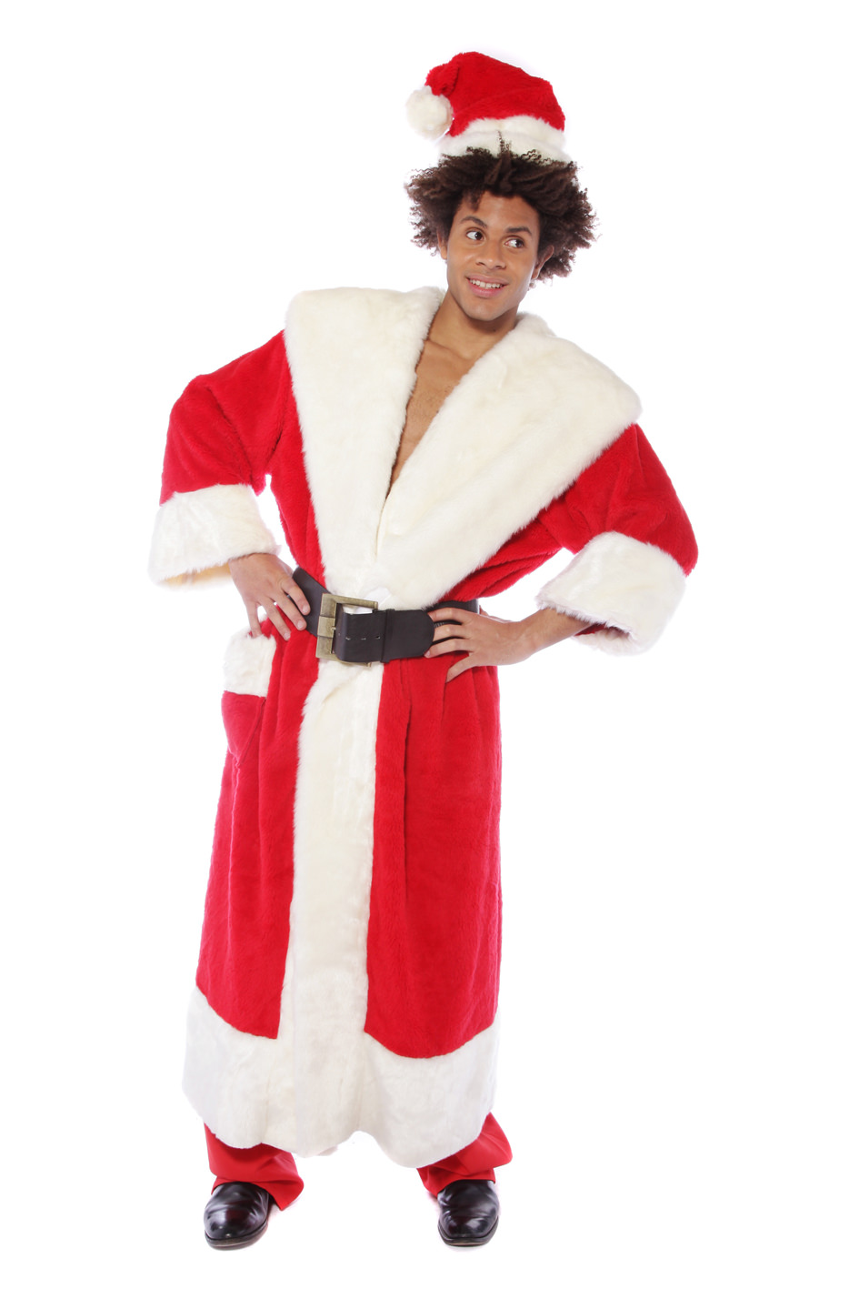 FATHER CHRISTMAS DELUXE COAT & MATCHING HAT
