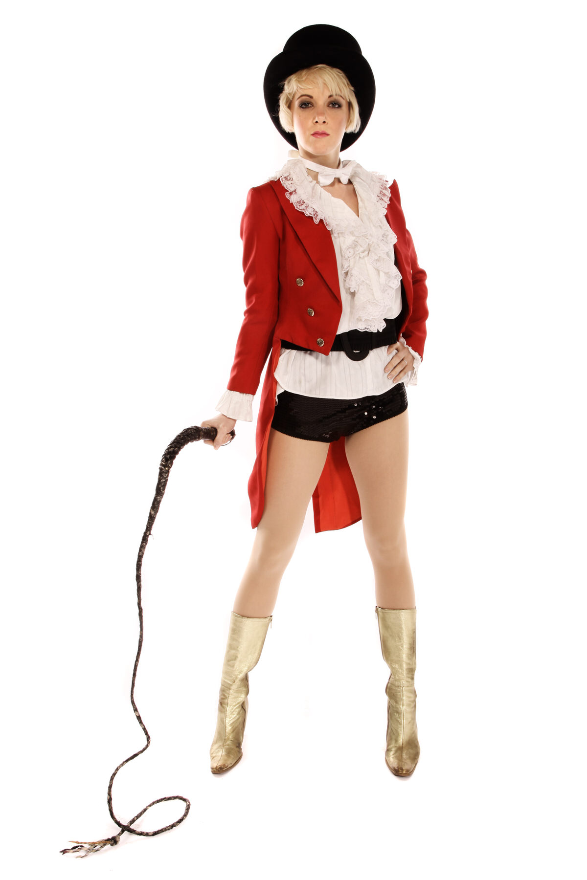 RING MISTRESS COSTUME WITH RED TAILCOAT