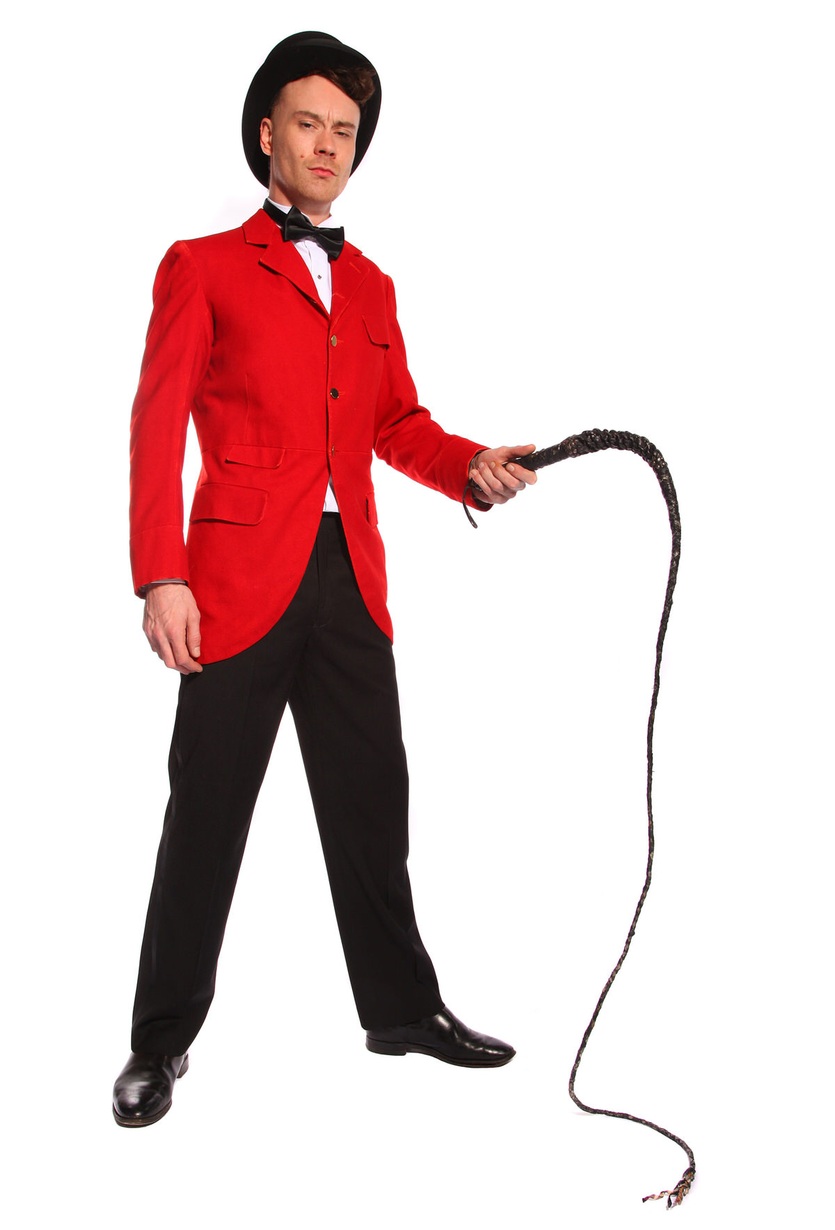 RING MASTER COSTUME W RED JACKET & WHIP