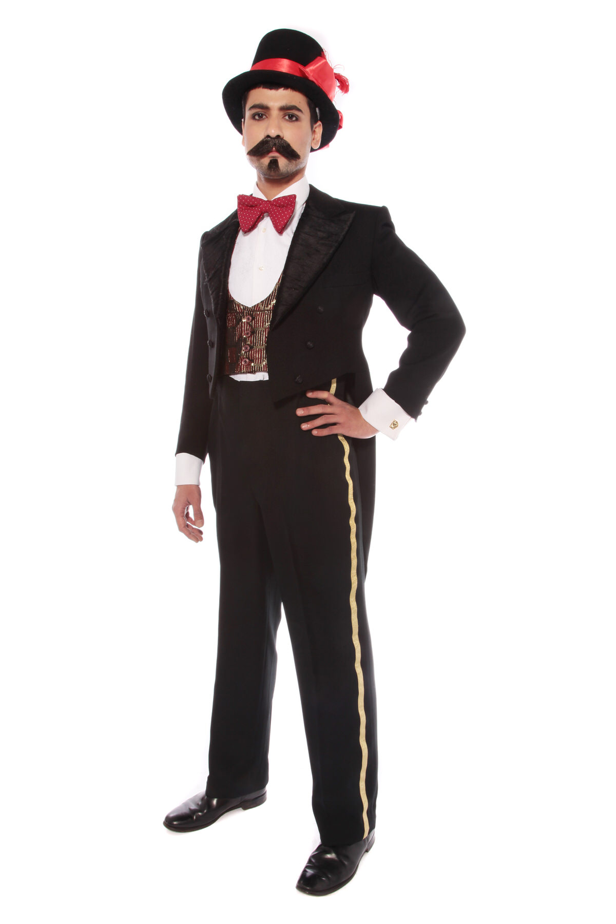 MOULIN ROUGE 2 PIECE FANCY SUIT W BLACK TAILCOAT