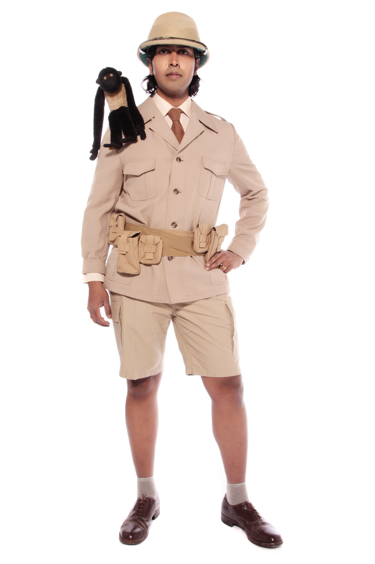 SAFARI 2 PIECE KHAKI COSTUME W KHAKI JACKET & SHORTS