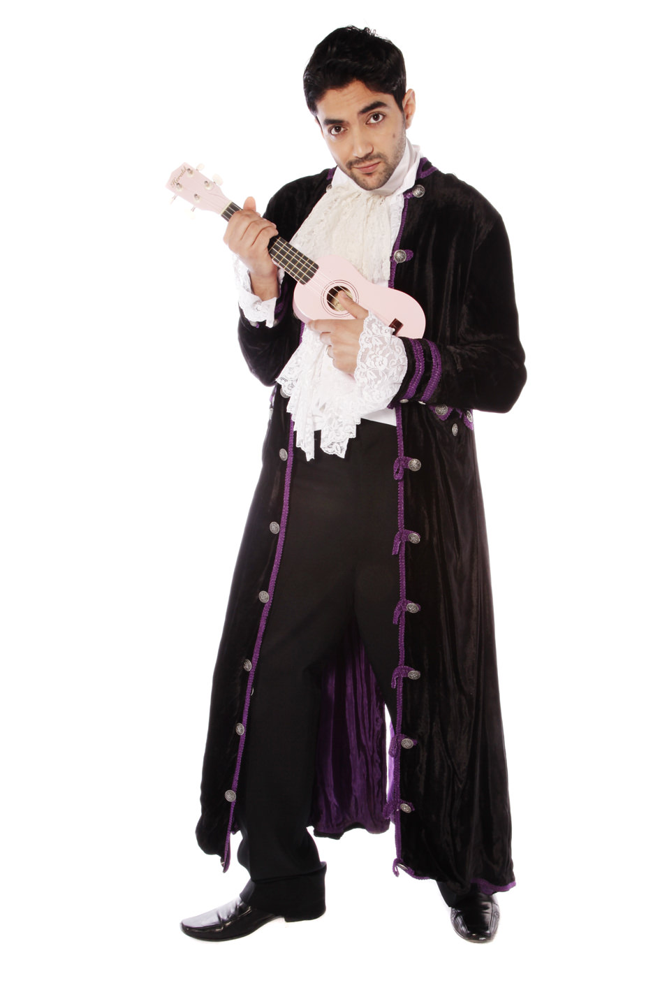 PRINCE STYLE COSTUME W LONG VELVET COAT
