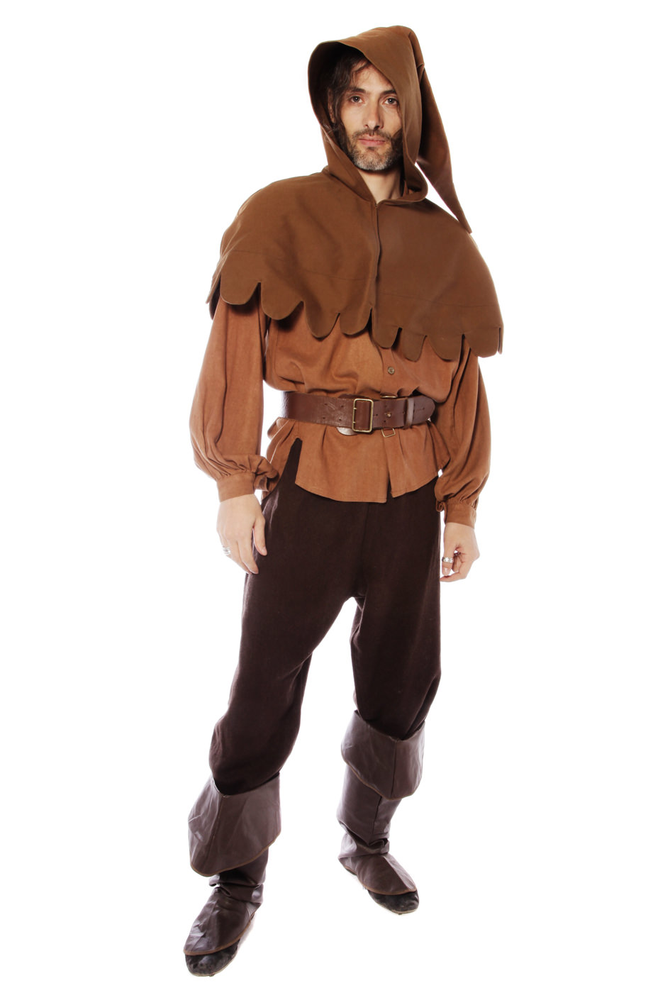 MEDIEVAL SERVANT PEASANT BROWN COSTUME