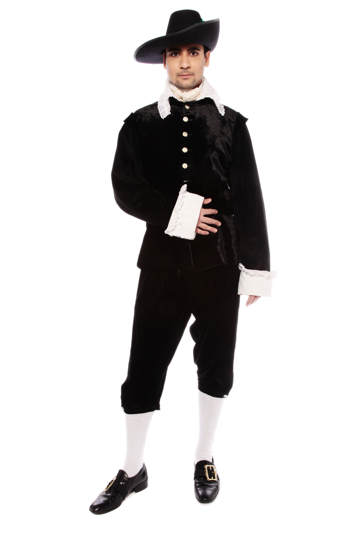 GUY FAWKES 17TH CENTURY GENT'S BLACK COSTUME