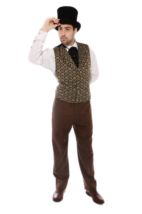 VICTORIAN GENT OLIVE GREEN AND BROWN COSTUME B