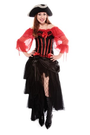 BURLESQUE PIRATE WOMAN'S COSTUME