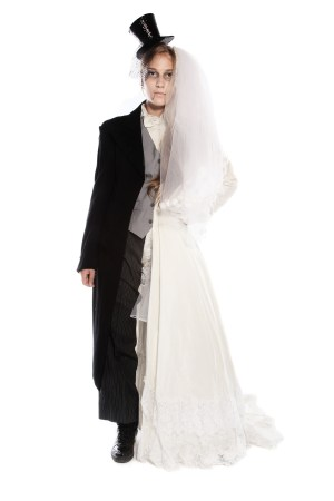 DEAD BRIDE AND GROOM WEDDING DRESS AND SUIT COSTUME