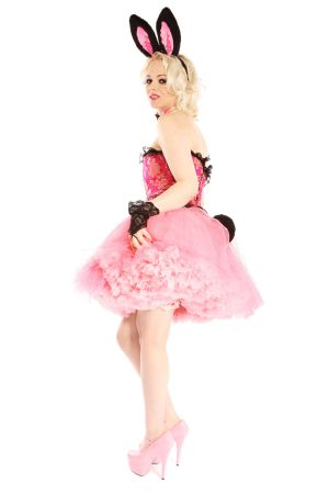 EASTER BUNNY GIRL FUCHSIA PINK AND BLACK COSTUME