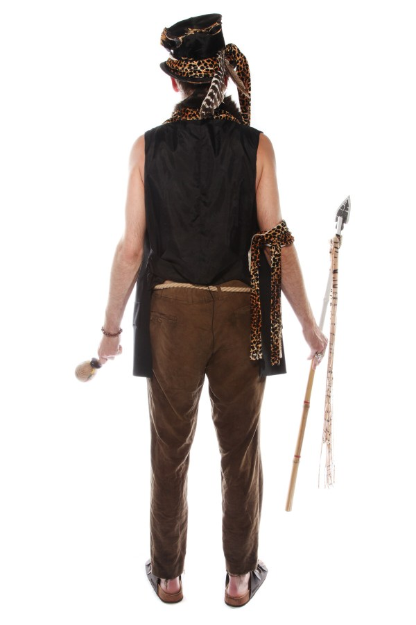 EVIL WITCH DOCTOR VOODOO COSTUME BACK