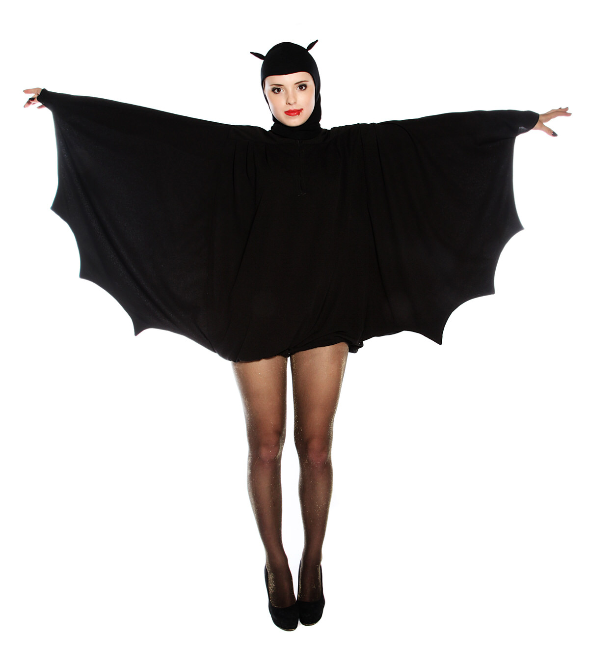FUNKY 1960'S BAT COSTUME WITH BAT EARS