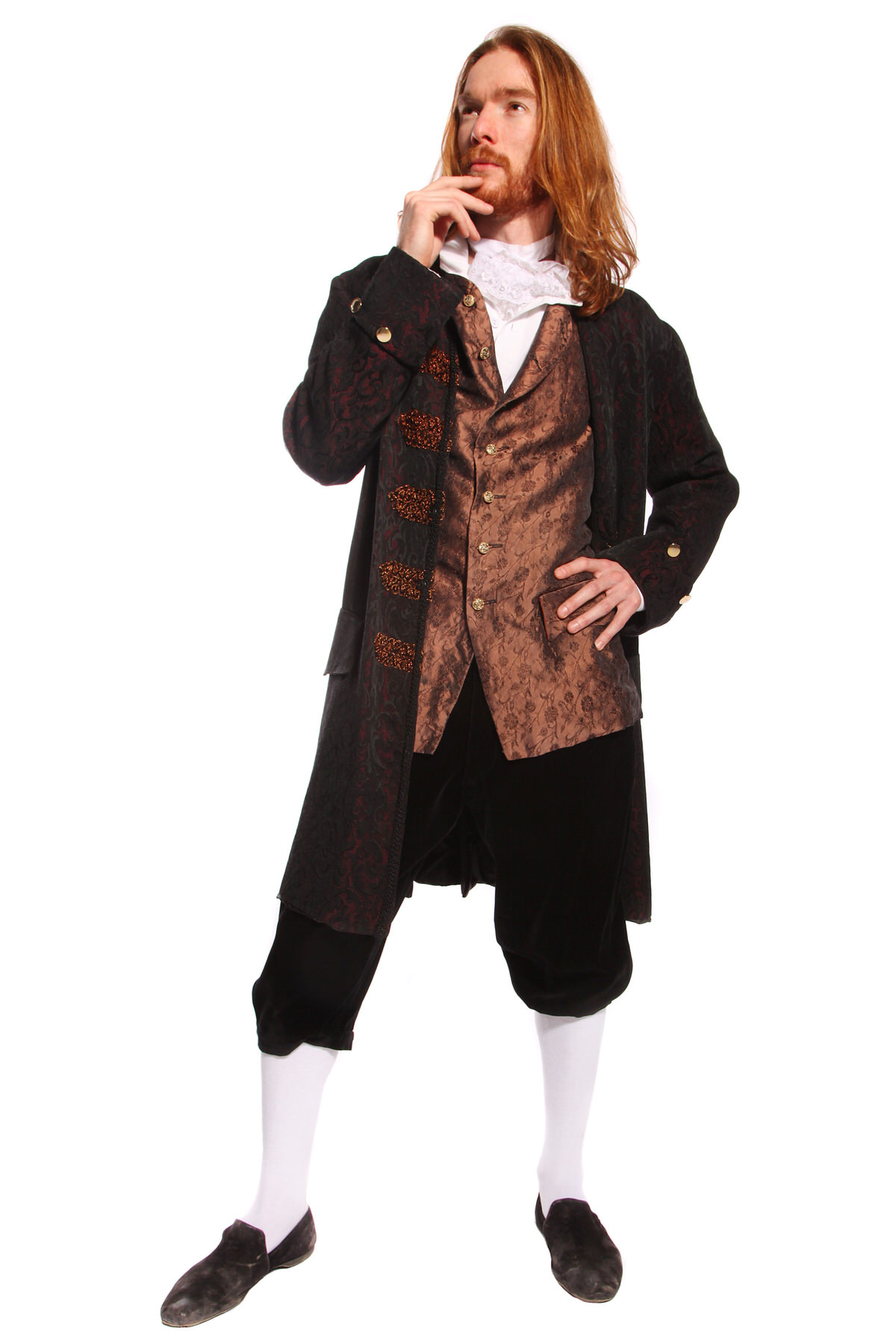 GEORGIAN GENT BROWN BROCADE COSTUME