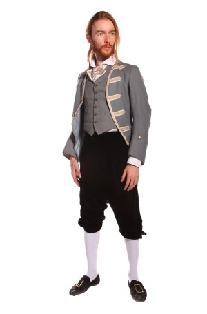 REGENCY GENT GREY COSTUME