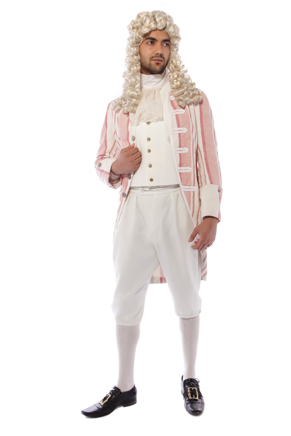 GEORGIAN GENT PINK AND CREAM COSTUME