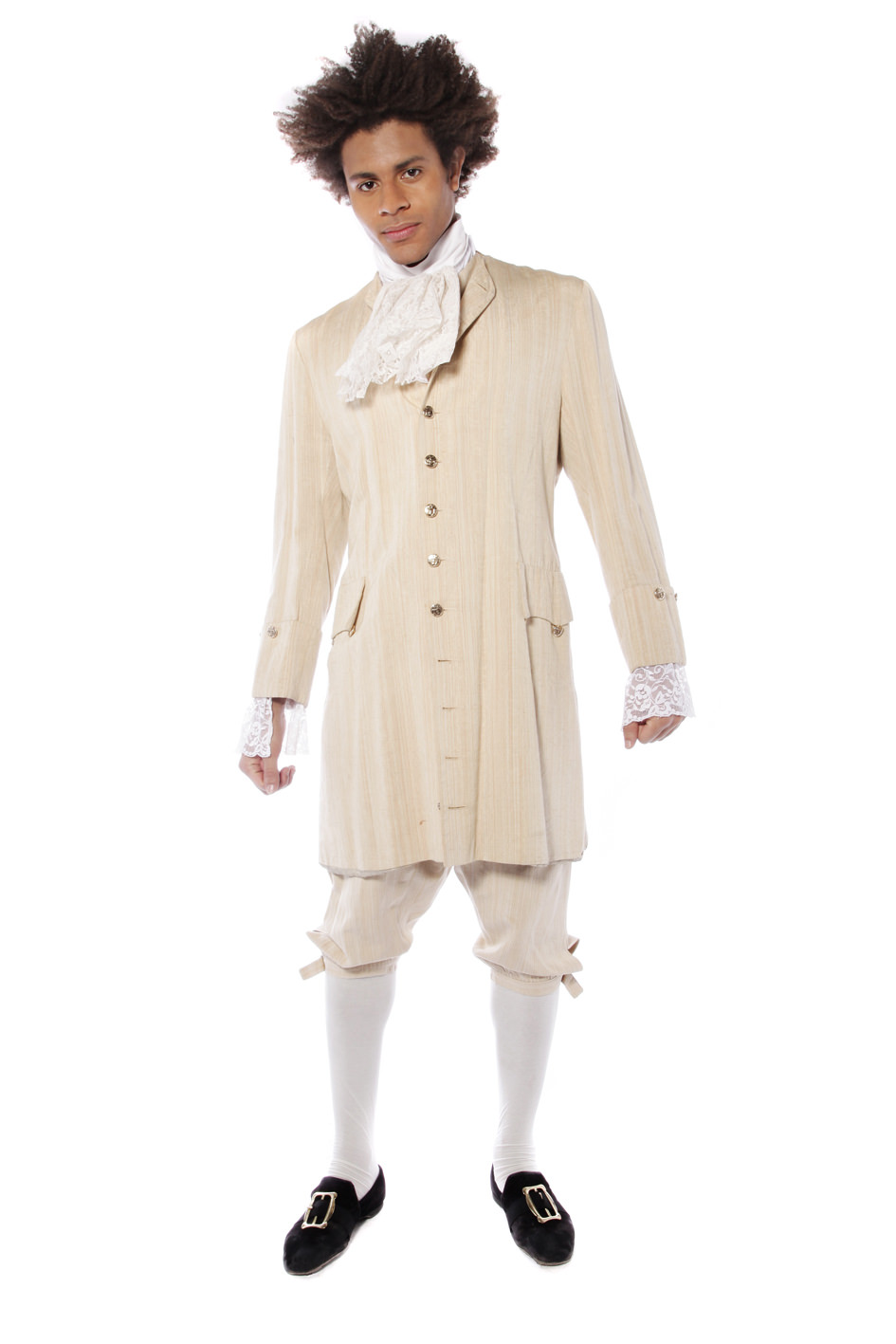 GEORGIAN GENT CREAM COSTUME W WAISTCOAT & BREECHES