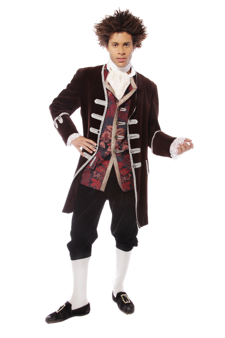 GEORGIAN GENT DARK BROWN AND JACQUARD COSTUME