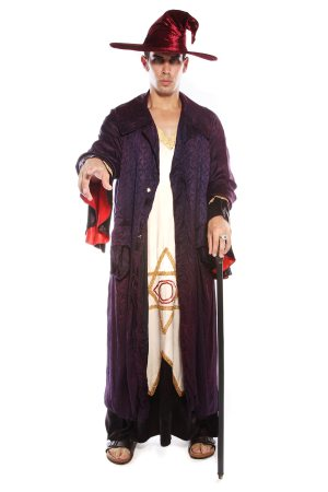 MAGICIAN WIZARD SORCERER LONG COSTUME