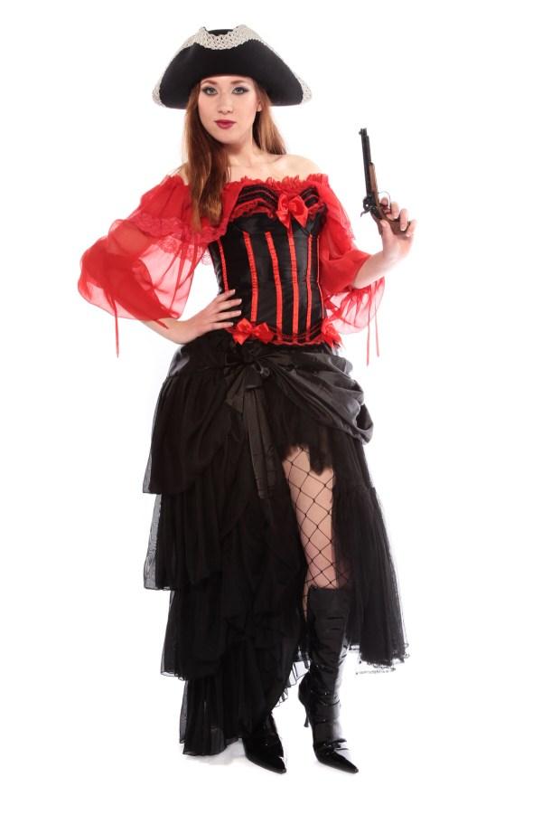 BURLESQUE PIRATE WOMAN'S COSTUME alt