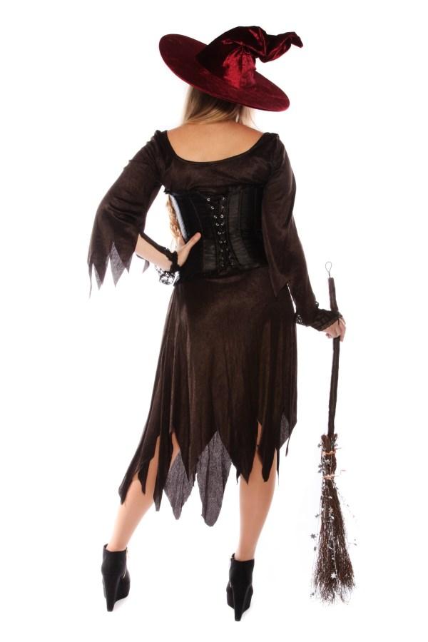 SPARKLY WITCH SLIT DRESS COSTUME back
