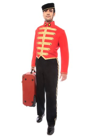 BELL BOY RED COSTUME