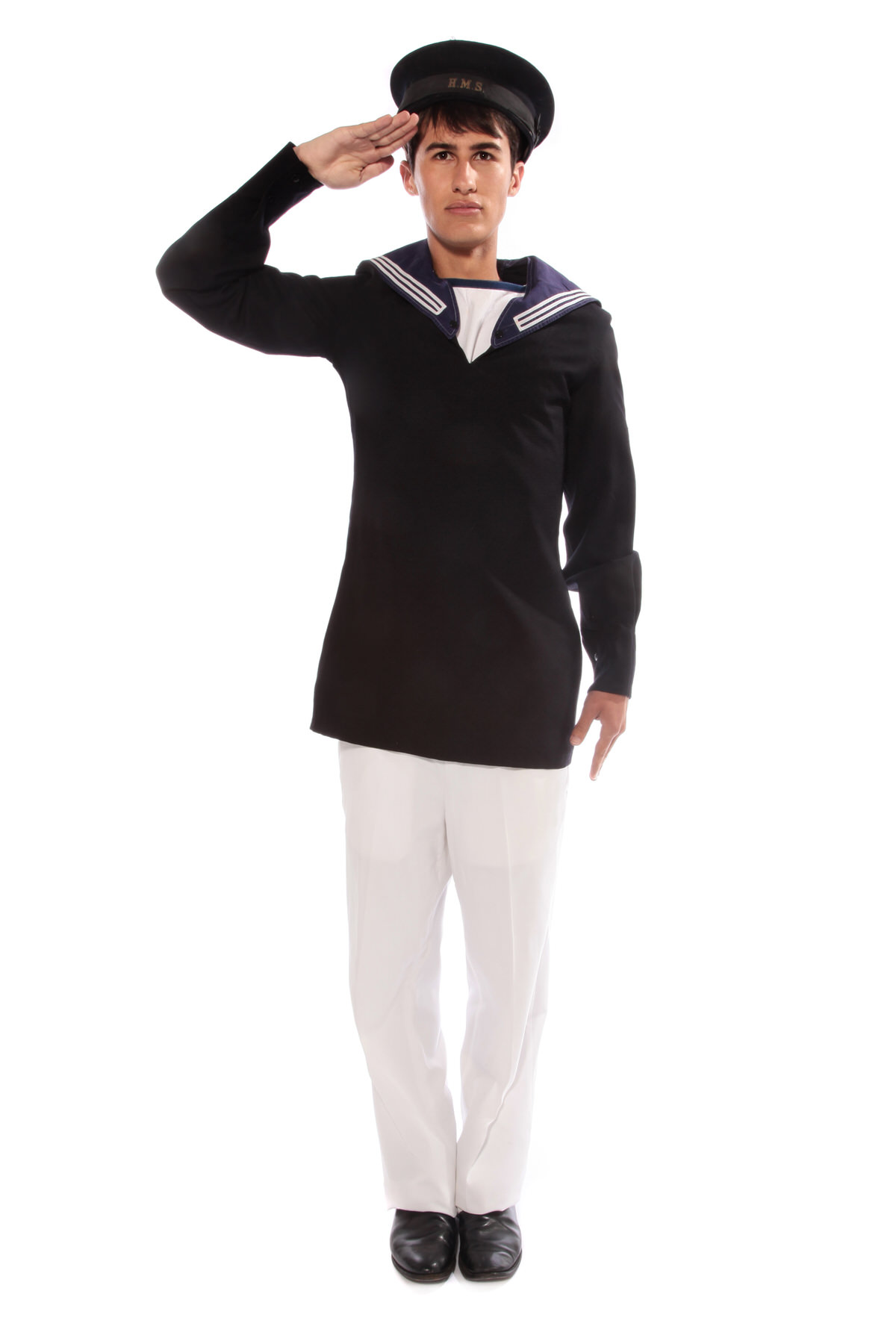 SAILOR NAVY COSTUME W OFFICERS PEAKED CAP