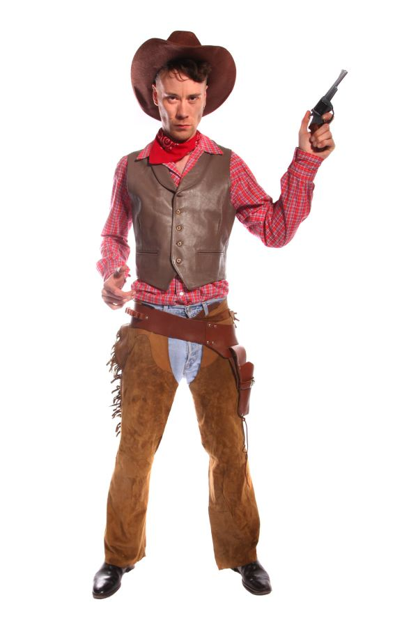 COWBOY RED AND BROWN COSTUME