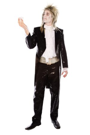 ZOMBIE LABYRINTH BLACK SEQUINNED COSTUME
