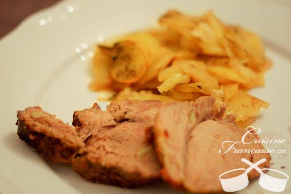 Gigot d'agneau et ses pommes de terre