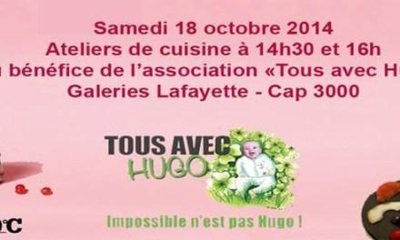 """Ateliers de cuisine pour l'association """"Tous avec Hugo"""""""