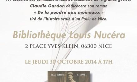 Rencontre dédicace avec Claudie Gardon
