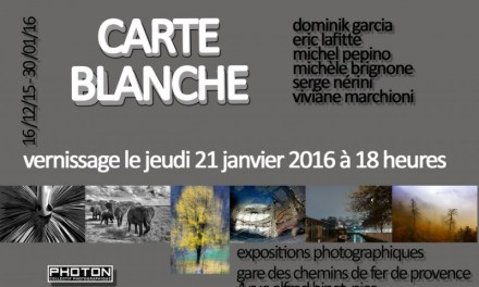 Exposition Photographique collective « Carte Blanche »