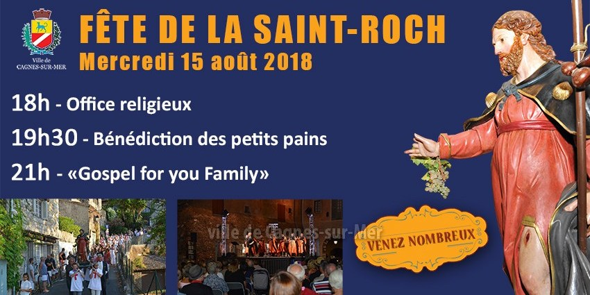 Fête de la Saint-Roch à Cagnes-sur-Mer