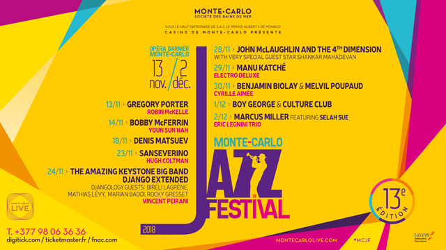 MONTE CARLO JAZZ FESTIVAL  2018