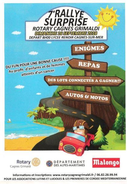 Rallye surprise du Rotary Cagnes Grimaldi